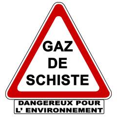 Danger gaz de Schiste