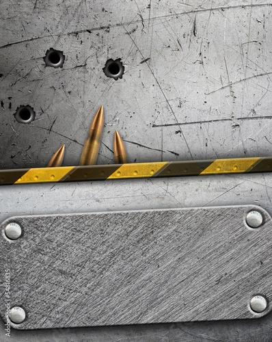 Metal Background With Bullet Holes Stock Photo And Royalty