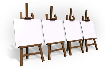 Empty Painting Easels