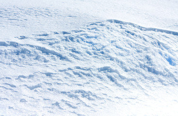 Natural background of snow