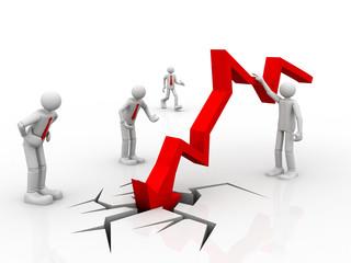 Business decline, Chart going through the floor