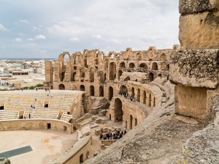 ruins of ancient colosseum in North Africa
