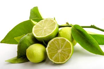 Ripe lemons, isolated on white background