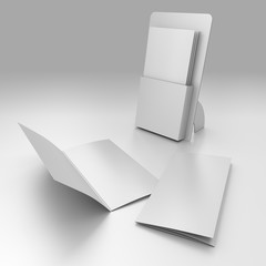 3D blank box display or stand with broadside