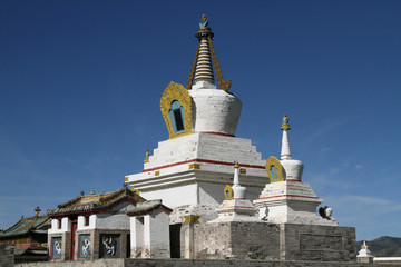 Un stupa du monastère Erdene Zuu