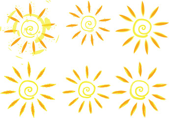 Vector grunge sun