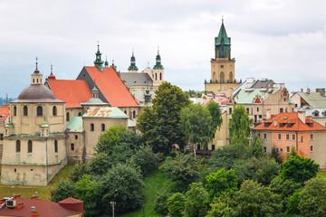 Obraz Piękna architektura starego miasta w Lublinie - fototapety do salonu