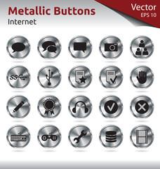 Metallic Buttons - Internet
