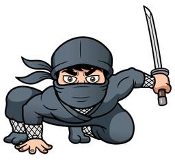 Vector illustration of Cartoon Ninja