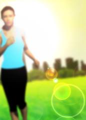 Running girl background