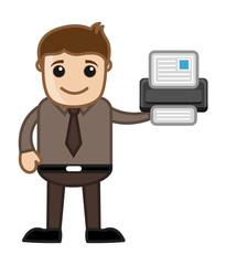 Printer - Business Cartoons Vectors