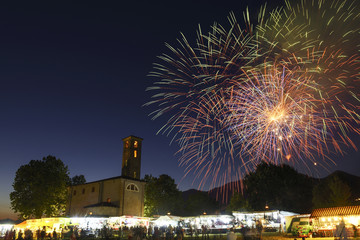 Fireworks in the country of Casciago