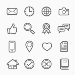 general symbol line icon