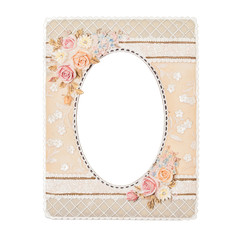 flower picture frame made by resin with handmade color paint