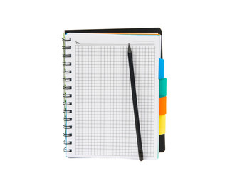 Blank note paper with pen.