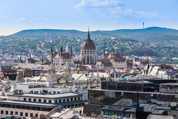 Garden Poster Vienna View at Budapest and belfry from the top of St. Stephen Basilica