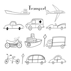illustration of different types of transport