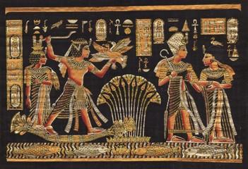 Ancient black egyptian papyrus
