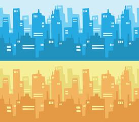 City Skyscraper Silhouette Background