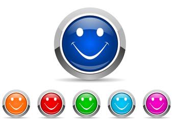 smile icon set