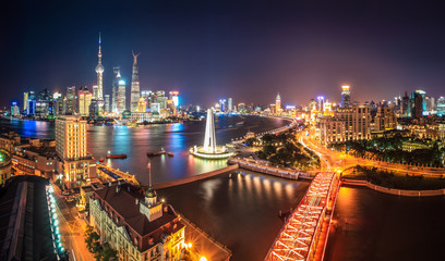 Aluminium Prints Shanghai shanghai at night