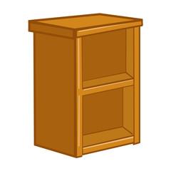 wooden lockers isolated illustration