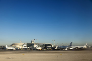 Israeli Planes at Ben-Gurion Airport
