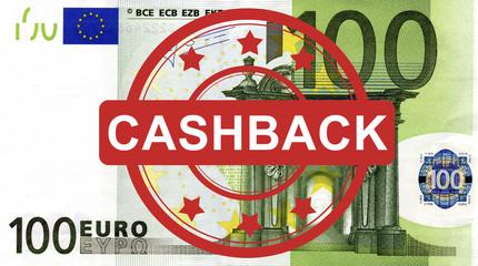 100 Euroschein mit Cashback Stempel