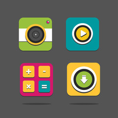 Flat icons for Web
