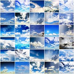 Collage: Himmel, Wolken, Wetter