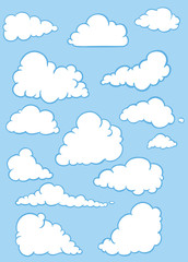 vector set of clouds