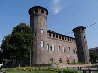 The towers of the Palace Madame in Turin in Italy