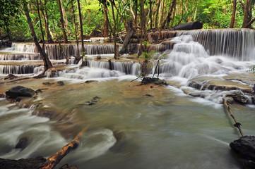 Wall Mural - Huay Mae Khamin Waterfall
