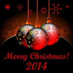 Christmas background with balls for Christmas tree