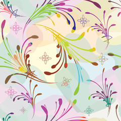 Natural seamless pattern background.