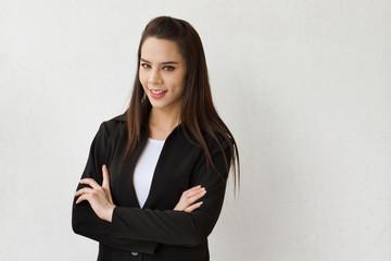 confident, smart, positive, smiling, beautiful business woman