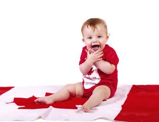 Baby celebrates Canada