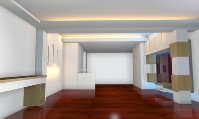 interior design with wood floor