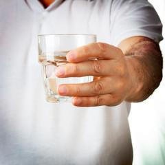 Man holding glass