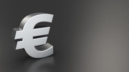 Euro symbol on black