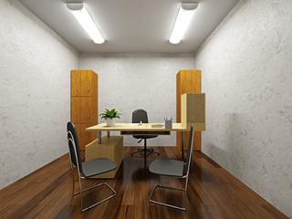 A small office
