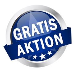 """Button mit Banner """" GRATIS AKTION """""""