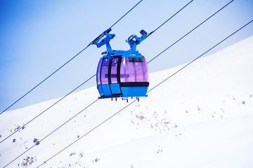 Cable car over the valley