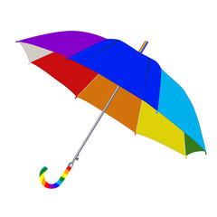 Umbrella in rainbow colors
