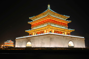 Bell Tower and Drum Tower in Xian,China Fototapete