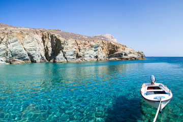 Little fishers boat on the aegean sea