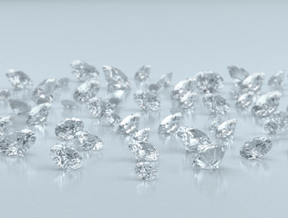 Large group of small diamonds