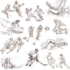 Sporting events - Collection of an hand drawn illustrations