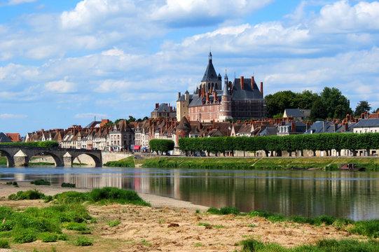 Vue de la ville et du Château de Gien