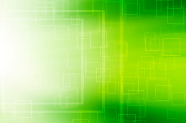 Abstract green square tech background.